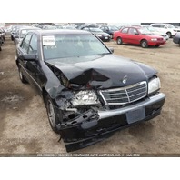 1999 Mercedes C230 damaged front 2.3 automatic black for parts