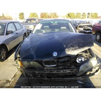 1998 Bmw 540I damaged in front black 4.4 automatic for parts