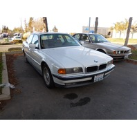 1998 Bmw 740I white automatic bad engine for parts