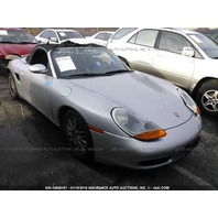 2001 Porsche Boxster 2.7 5 speed damaged left rear for parts