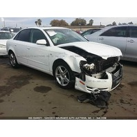 2007 Audi A4 2.0t white automatic damaged front for parts
