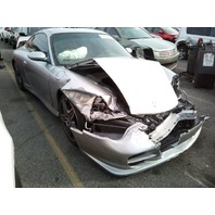 2003 Porsche 911 996 C4S silver 3.6 automatic damaged front for parts