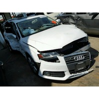 2011 Audi A4 sedan white 2.0 automatic CVT damaged all over for parts