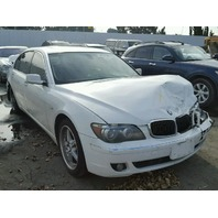2006 750LI BMW SDN 4DR/WHITE FRONT TEAR DAMAGE FOR PARTS