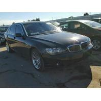 2006 750LI BMW SDN 4DR/BLACK FOR PARTS