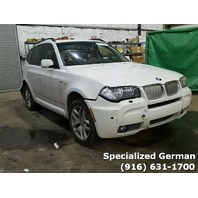 2007 BMW X3 White Damaged Rear For Parts