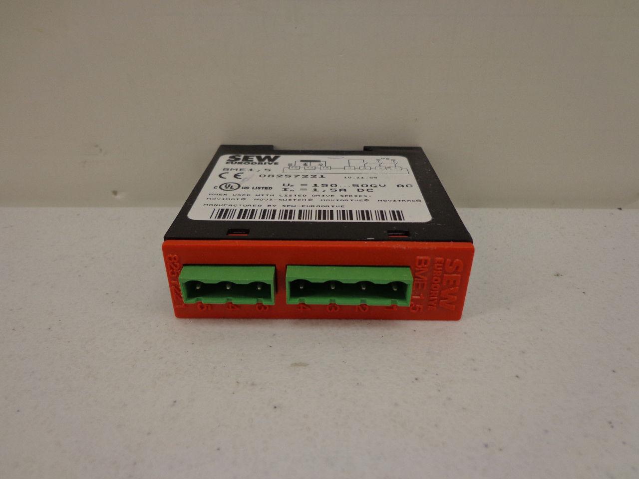 Sew Eurodrive 08257221 Bme 1 5 Motor Brake Rectifier Plc