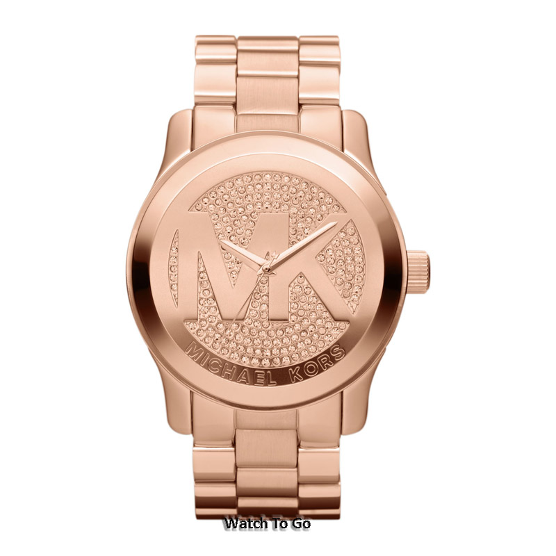 new michael kors for runway logo gold