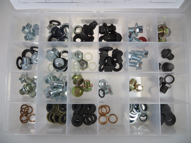 Oil Drain Plugs & Gaskets Master Technician Assortment, 205 pcs