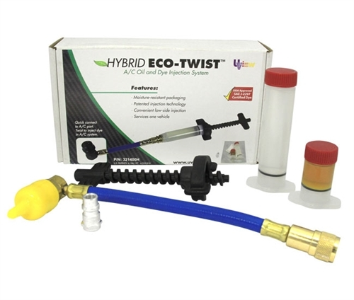 Hybrid Eco-Twist injection system with 1 oz ester oil , 1/4oz A/C dye cartridge