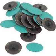 "25 PACK OF 2"" 24 GRIT GREEN ROLOC DISCS"