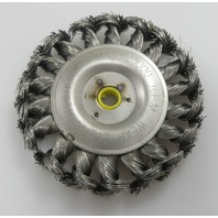 "4"" Twisted Wire Brush for cleaning rim rust corrosion"