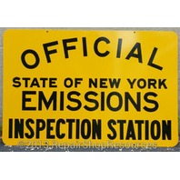 NEW YORK STATE DMV OFFICIAL EMISSIONS INSPECTION STATION SIGN