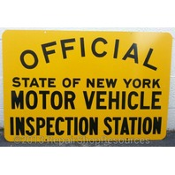 NEW YORK STATE DMV OFFICIAL MOTOR VEHICLE INSPECTION STATION SIGN