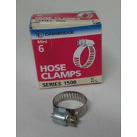 (10) #6 Mini Hose Clamps, Fuel Line, Automotive, worm screw
