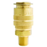 "MILTON 714 Air Hose Coupler M style 1/4"" Male NPT Threads"