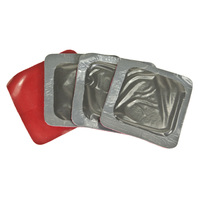 (20) TIRE PATCHES, 2-1/8in (54mm) Square Universal Repair (Red Poly)