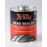 EXTRA THICK BEAD SEALER -  Quart can with brush in can - black tire repair