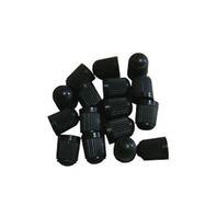 100 BLACK PLASTIC TIRE VALVE STEM CAPS