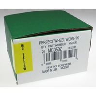 (25) .50 ounce 1/2 oz MC Style Wheel weight, USA MADE Perfect Equipment