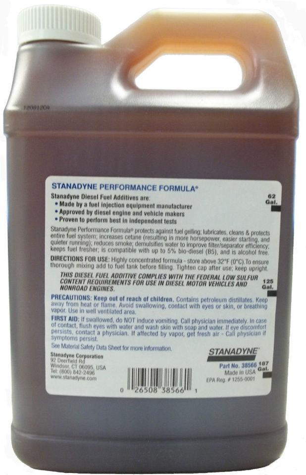 Stanadyne Performance Formula Diesel Fuel Additive Case Of Gallon C on Diesel Fuel Additives For Winter