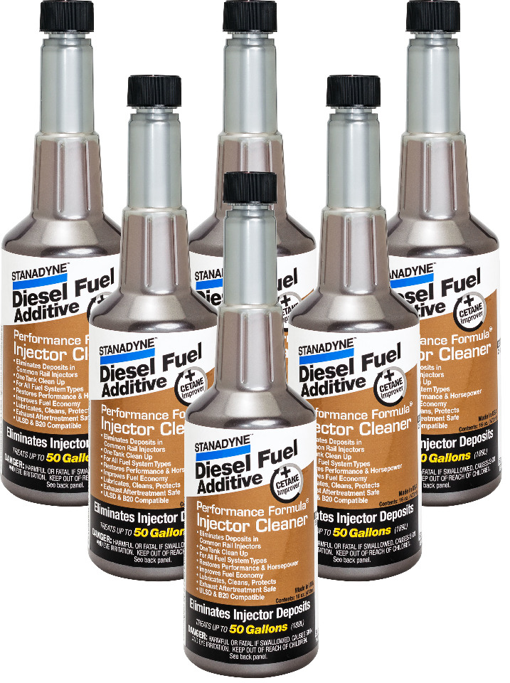 Stanadyne Performance Formula Diesel Injector Cleaner | 6 Pack of 16 oz bottles | # 43564
