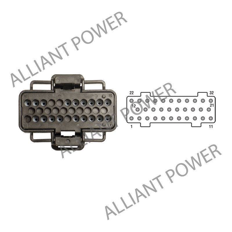 ap0018 nav vt 2003 2007 navistar vt365 vt275 fuel injection control module connector ap0018 wiring diagram for international truck the wiring diagram VT275 International CF 600 at gsmx.co