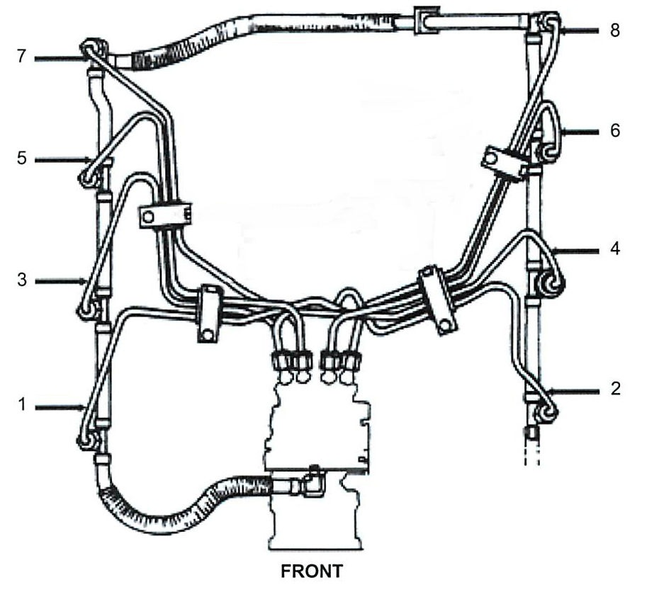 69l 73l Diesel Fuel Injection Line Kit Includes 8 Lines Plus Return Line Kit Injection Lines Set on ford 5 4 engine diagram