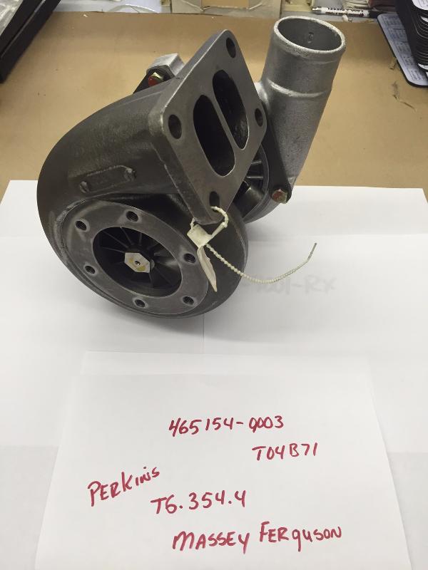 Turbo for 1984-2001 Perkins T6-354.4 Engine - Garrett #465154-9003 OEM # 2674405