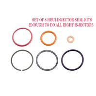 94-03 7.3L Ford Powerstroke * HEUI Injector Seal Kit (Set of 8) *Alliant #AP0001