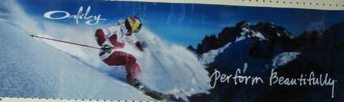 OAKLEY ski 2010 GRETE ELIASSEN red bull BIG duratrans poster ~NEW~MINT  COND ~!!