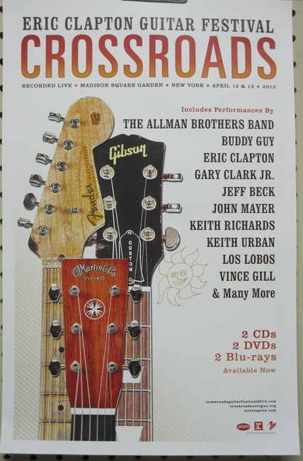 eric clapton 2013 crossroads guitar festival poster new mint condition ebay. Black Bedroom Furniture Sets. Home Design Ideas