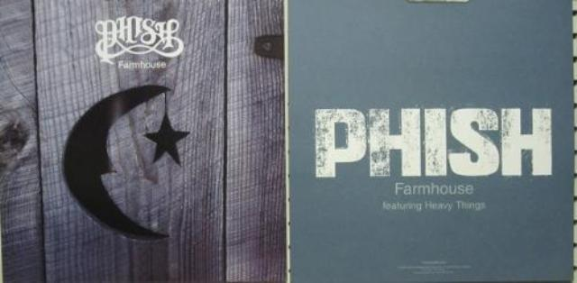 PHISH 2000 FARMHOUSE 2 sided promotional poster flat NEW old stock VERMONT