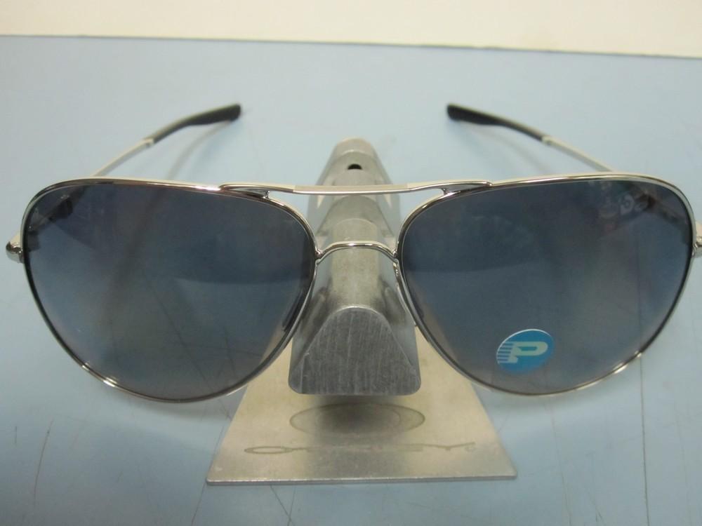 6d7c97694fc OAKLEY mens ELMONT L sunglass CHROME GREY POLARIZED OO4119-0460 NEW in bag  ...