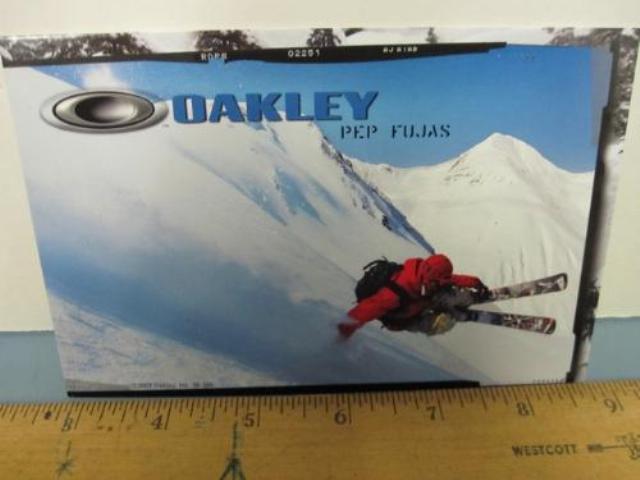 OAKLEY surf sun snow 2007 PEP FUJAS SKI dealer promo display card New Old Stock