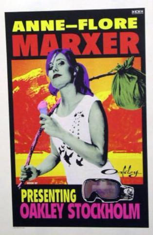 OAKLEY 2007 ANNE-FLORE MARXER snowboard poster ~MINT condition~!!