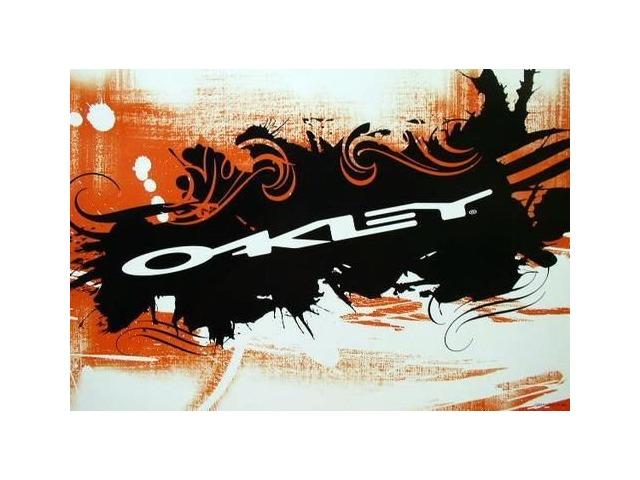 Oakley surf snowboard 2006 Stretch logo dealer promotional poster New Old Stock