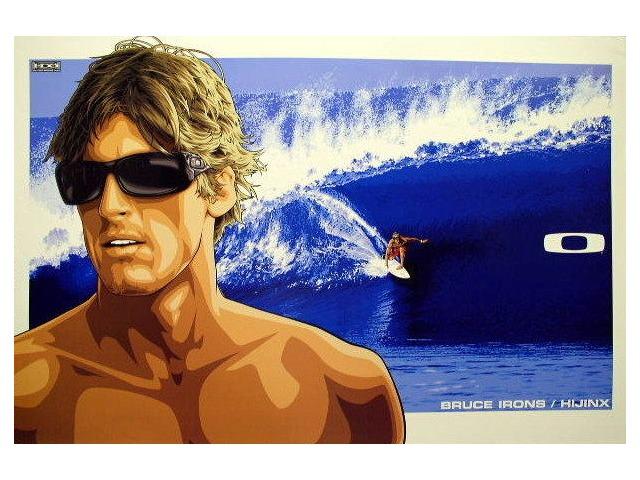 OAKLEY 2007 BRUCE IRONS HIJINX SURF poster HUGE & MINT condition!!