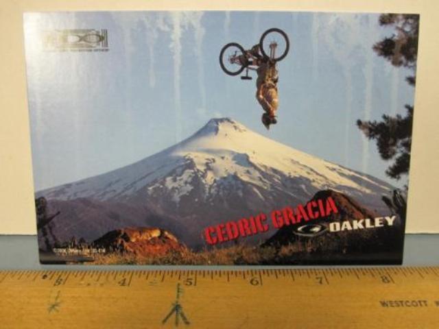OAKLEY surf sun 2006 CEDRIC GRACIA bike dealer promo display card New Old Stock