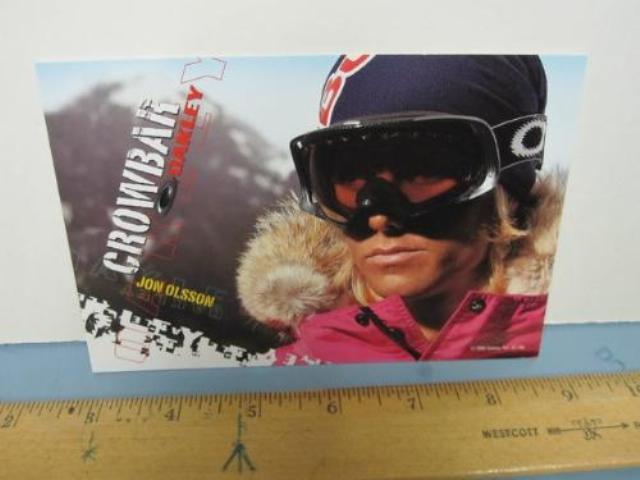 OAKLEY surf sun snow 2005 JON OLSSON SKI dealer promo display card New Old Stock