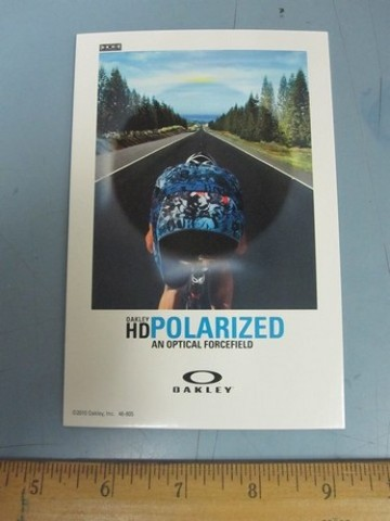 OAKLEY surf sun snow 2010 POLARIZED BIKE dealer promo display card New Old Stock