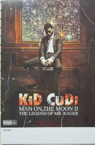 KID CUDI 2010 MAN ON THE MOON 2 SIDED PROMOTIONAL POSTER ...