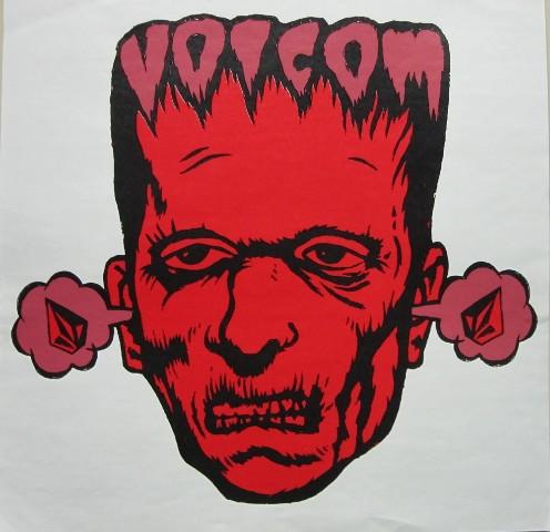 Volcom surf skateboard snowboard Promotional Poster Print Frankenstein Limited