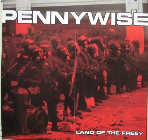 Pennywise 2001 Land Of The Free promotional Poster New Old Stock Mint Condition