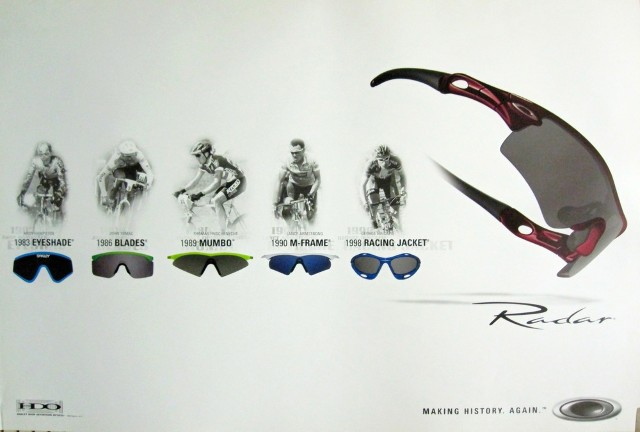 Oakley 2006 Armstrong Hincapie Radar promotional Big poster Mint Condition