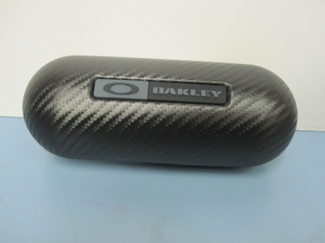 Oakley men RX sunglass Carbon protective vault clamshell carrying case black new