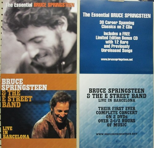 Bruce Springsteen 2003 Essential Barcelona 2 sided poster Mint condition N.O.S.