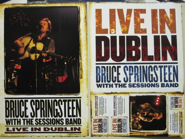 Bruce Springsteen 2007 Live In Dublin 2 sided poster Mint condition Flawless