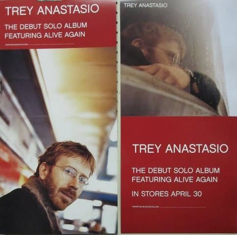 Trey Anastasio 2002 Debut Solo 2 sided Elektra promotional poster Mint Condition