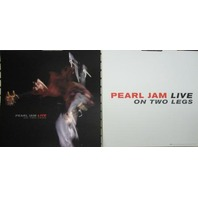 PEARL JAM 1998 LIVE ON TWO LEGS  2 sided promo poster/flat ~NEW old stock~MINT~!